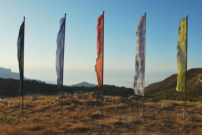 Sunset Landscape Nature Outdoors Scenics Mountain Beauty In Nature No People Day Flags Buddhism EyeEmNewHere