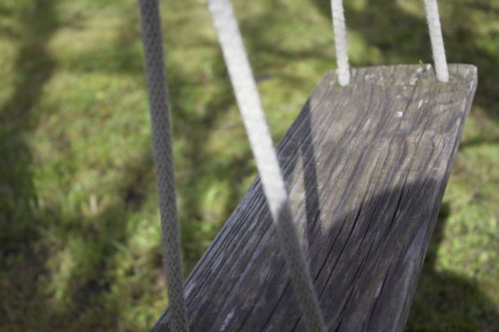 Close-up Day Focus On Foreground Grass Grass Nature No Filter No Filter, No Edit, Just Photography No People Outdoors Swing Swings Tree Wood - Material Wooden Wooden Post Wooden Swing Wooden Texture
