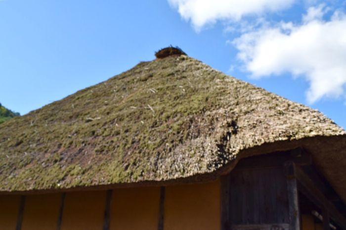田舎 茅葺き屋根 暮らし 青空 Blue Sky 秋晴れ Roof Of Thatch In The Country