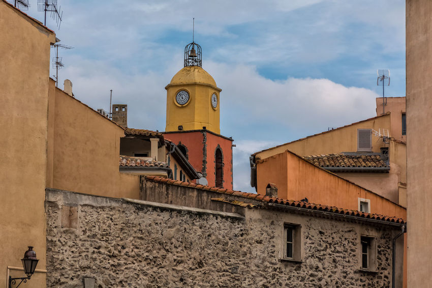 Architecture Buildig Cloud Colorful France French Riviera Sky St.Tropez