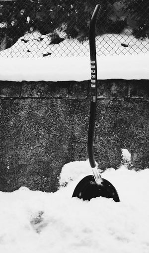 My tool for winter battles Snow Winter Shuffle Working Snowing Waiting For Spring Moment Tool Monochrome Blackandwhite City Winner