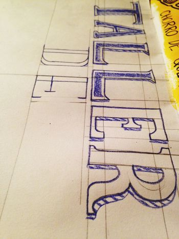 proceso! Lettering Caligraphy l