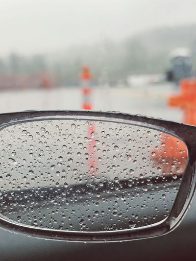 Water Wet Drop Vehicle Interior Close-up Land Vehicle No People Car Interior Mode Of Transport Car Transportation RainDrop Focus On Foreground Window Day Indoors  Freshness Sky Nature Gasses