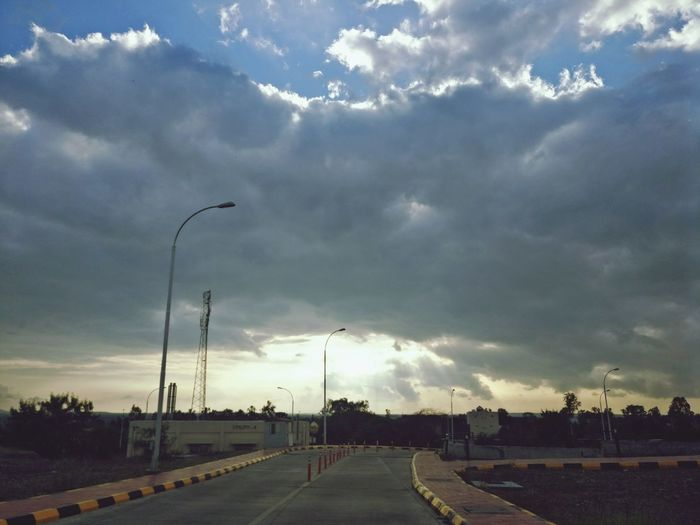 Evening Naturelovers Nature Photography Beautiful Nature Winding Road Day Sky Outdoors No People Urban Road Road Simple Beauty Simplicity Simple Things In Life Alone College Campus IIMIndore Iim