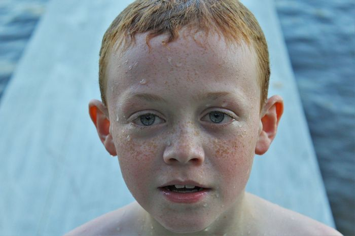 BlueEyes Brother Close-up Cute Day Dock Focus On Foreground Headshot Human Face Lake Leisure Activity Lifestyles Michigan Photo Portrait Redhair Sunset Upnorth Upnorthmichigan