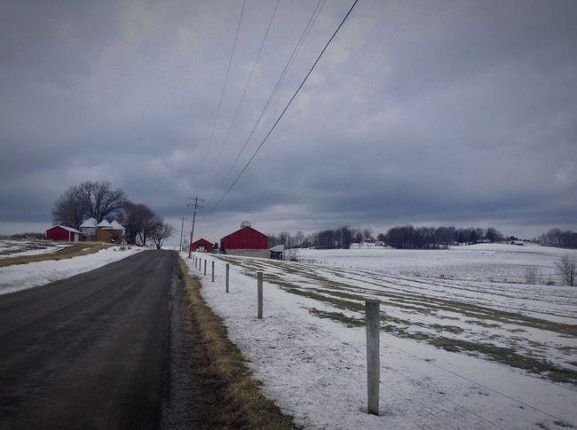 IPadography Pennsylvania Rural America Backroads Farmland Winter Outdoor Photography