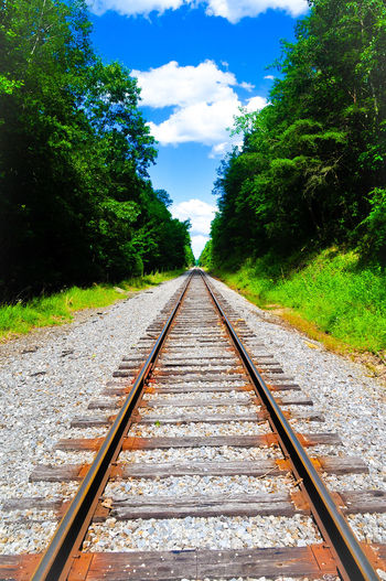 Hiking on railroads! Day Railroad Track Nature Sky Outdoors Parallel Diminishing Perspective The Week On EyeEm