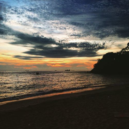Sunset at Teluk Batik Beach, Lumut, Perak Travel Travel Photography Landscape PhonePhotography Sunset Beach