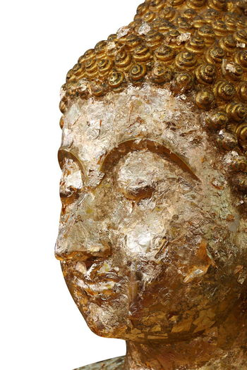 buddha statue, golden buddha face statue close-up isolated on white background Buddha Buddha Image Buddha Temple Buddha Art Buddha Face Buddha Statue In Thai Buddha Statues Buddha Status Gold Golden Art And Craft Belief Buddha Head Buddha Statue Close-up Craft Creativity Cut Out Human Representation Religion Sculpture Single Object Statue Still Life White Background