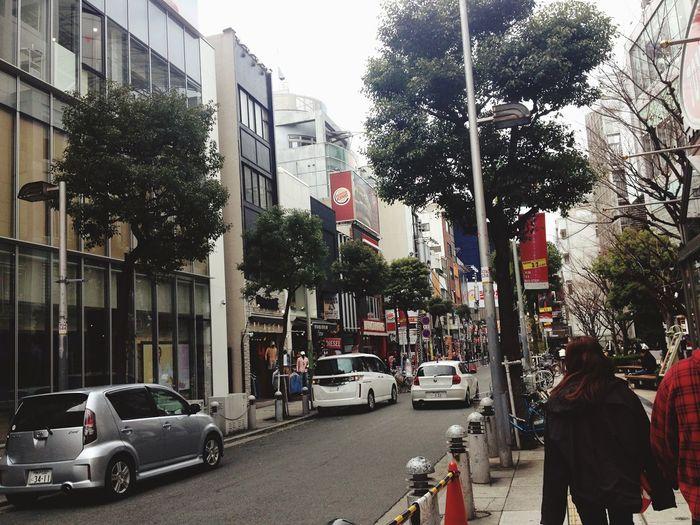 ASIA Japan OSAKA Trees Car Street Architecture City Building Exterior