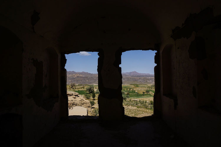 Travel Destinations Travel Photography Iran Persian Architecture Islamic Architecture Shia Community Indoors  Nature Built Structure Sky Window History The Past Arch Old Rock - Object Rock Solid Abandoned Ancient Land Cave Ancient Civilization Architectural Column