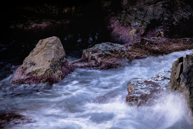 motion_2 Rock Rock - Object Water Solid Motion Beauty In Nature No People Nature Scenics - Nature Long Exposure Flowing Water Sport Blurred Motion Sea Day Rock Formation Land Flowing Outdoors Power In Nature Nature Stream - Flowing Water Seaweed Movement Water_collection