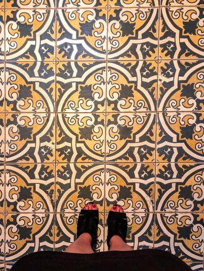 I have this thing with floors 😍 beautiful old-fashion tiles floors. Vegetation ornement. People looking down. Woman shoes. Flat Lay Woman Feet Looking Down Decoration Indoors  I Have This Thing With Floors Design Pattern Flooring Tile Indoors  Full Frame Floral Pattern Tiled Floor Architecture Shape Mosaic Ornate