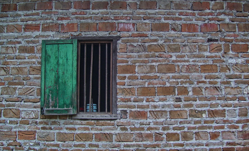 An Old Window Architecture Bali Bali, Indonesia East Java Great Shot☆ INDONESIA Old Window Architecture Brick Wall Building Exterior Built Structure Day Door Greatshot No People Old Buildings Outdoors Window