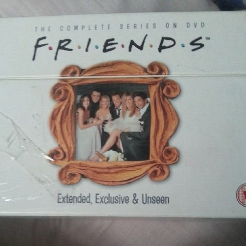 Watching friends in bed cuz its my fave and I haven't watched it in a while