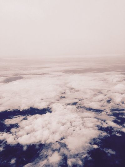 From A Airplane Window Clouds And Sky