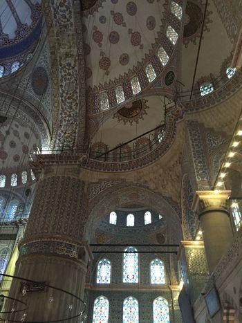 Architecture Bluemusque Ceiling Day Istanbul Turkey Musque Religion Spirituality Travel Destinations
