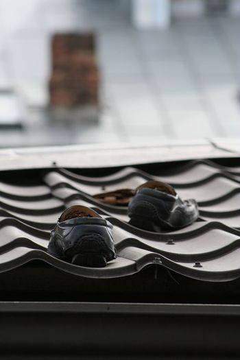 Street Market Black Color Black Shoes Close-up Day Focus On Foreground Man Shoes Mocasines Mocassins No People Riga Riga Latvia Roof Selective Focus Shoes Shoes On The Roof Still Life Street Market
