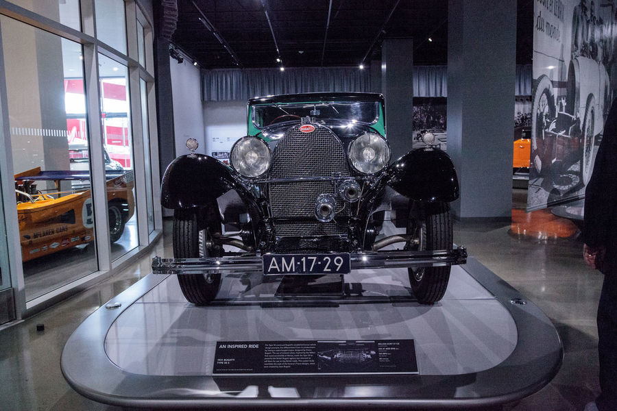 Los Angeles, CA, USA - March 4, 2017: Green 1931 Bugatti Type 50 S at the Petersen Automotive Museum in Los Angeles, California, United States. Editorial only. 1931 Antique Bugatti Classic Car Indoors  Luxury No People Old Petersen Automotive Museum Technology Transportation Type 50 S Vintage