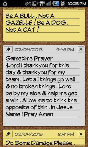 My Gametime Notes