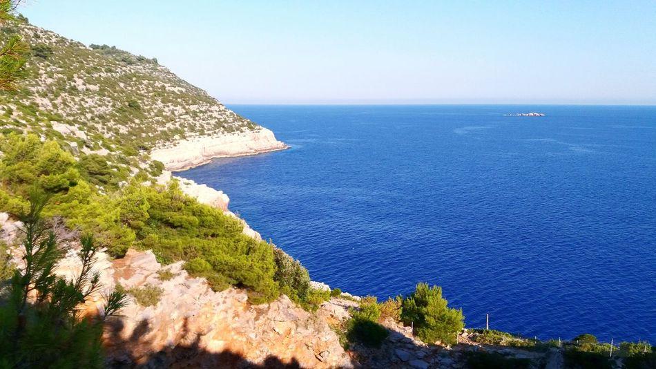 Sea Landscape No People Island Adria Dalmatia Croatia Horizon Over Water Summer Tree Blue Day