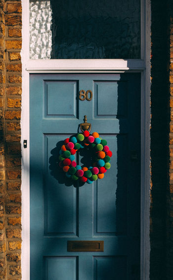Spirit. Doors Blue Colorful Christmas Decorations Cozy Home Outdoors Shoreditch London Market Christmas Tree Lithuanian