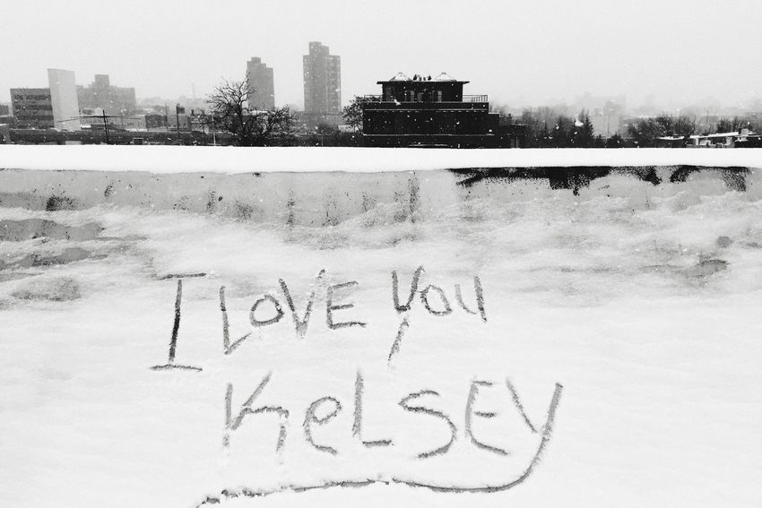 Love Winter Text Snow Cold Temperature Kelsey Outdoors City Communication