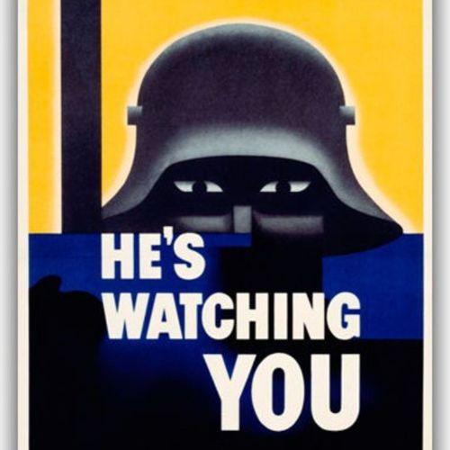 neues poster geordert. replik von plakat aus #ww2 von den USA. irgendwie wieder aktuell... #heswatchingyou Ww2 Heswatchingyou