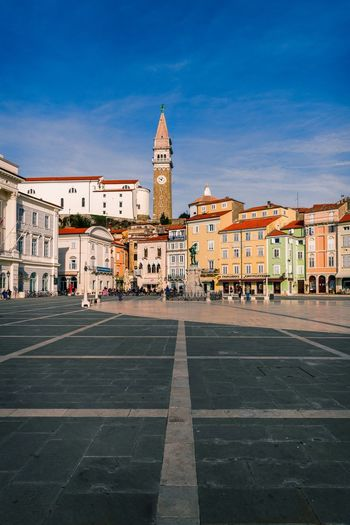 Town centre Building Exterior Built Structure Architecture Sky City Building Religion Place Of Worship Travel Destinations Belief Nature Tower Spirituality Travel Street Day Clock No People Outdoors Spire