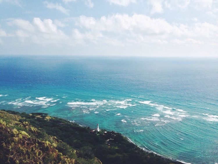 Pretty happy to be back in Hawaii! Hawaii Lighthouse Lookout Ocean