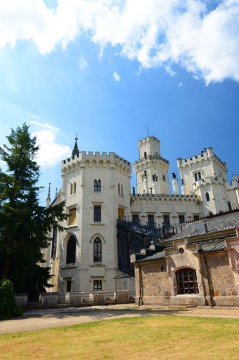 Rear view of Hluboka castle. Czech Republic Architecture Blue Building Exterior Built Structure Castle Castles Czech Czech Republic History Hluboká Nad Vltavou Hluboká Nad Vltavou • Zámek No People Old Castle Outdoors Travel Travel Destinations