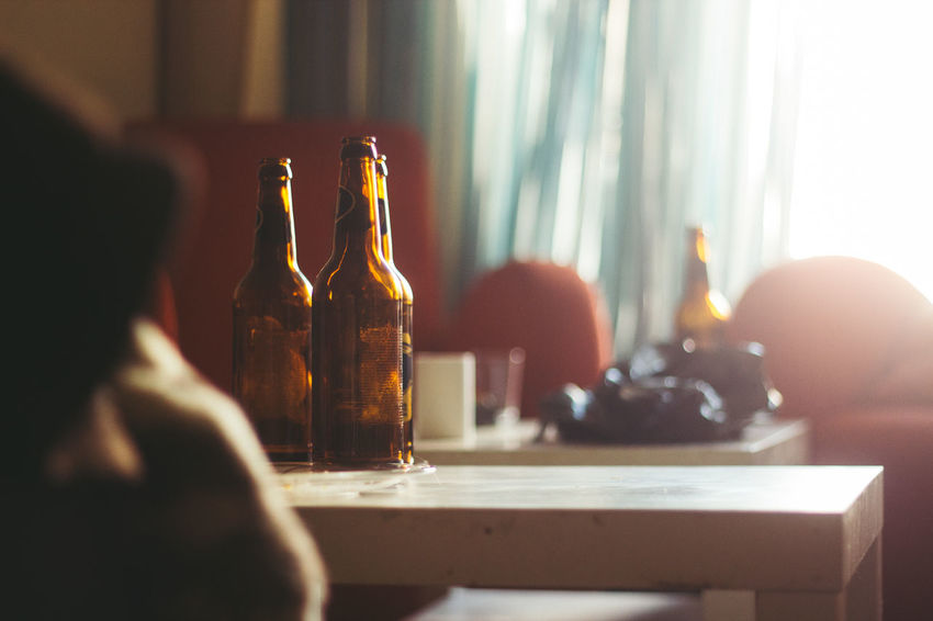 50mm Beer Beer Bottles Bottles Canon Close-up Domestic Room Focus On Foreground Home Illuminated Light Lit Messy Selective Focus Still Life Sun VSCO Vscofilm Enjoy The New Normal