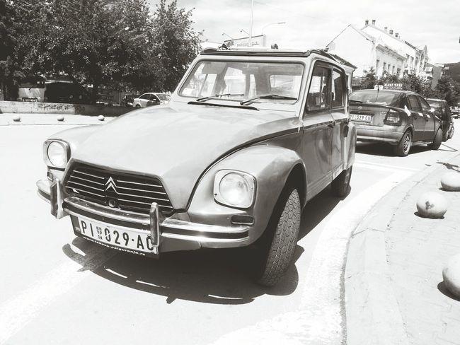 Oldschool Citroen Black And White Retrocar