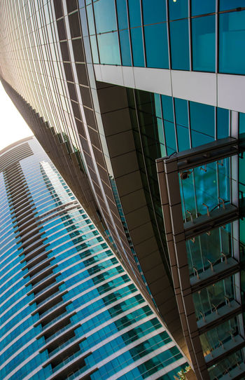 Marina Dubai Architecture Built Structure Modern Building Exterior Glass - Material Building Office Building Exterior Office City No People Day Low Angle View Reflection Window Skyscraper Pattern Outdoors Transparent Nature Sunlight Glass