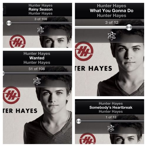 I guess it's a hunter Hayes kinda night. #HH #wanted #lovehim #country