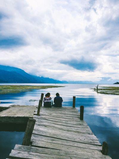 San Juan La Laguna: Waiting for love view] Atitlán] Lago Lake Atitlan Lago Atitlán Guatemala Lakeside Water Reflections Water Waterfall