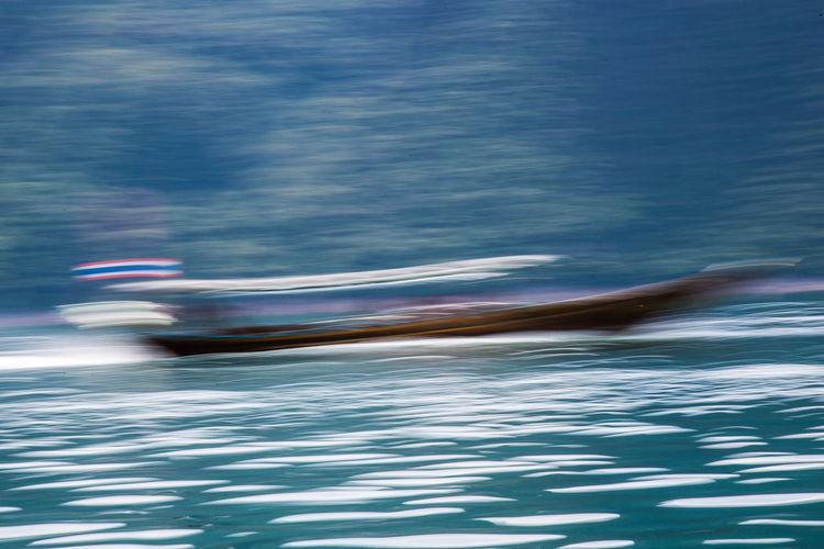 Speed Boat. Photo by Rattapol Sirijirasuk. Blue Blur Blurred Motion Boat Boat Quick Boat Race  Boat Ride Boat Trip Motion Motion Blur Motion Capture Motionphotography Need For Speed Speed Speed Boat Speedboat Speeding Thai Thai Boat Thailand Thailand_allshots Thailandtravel Transportation