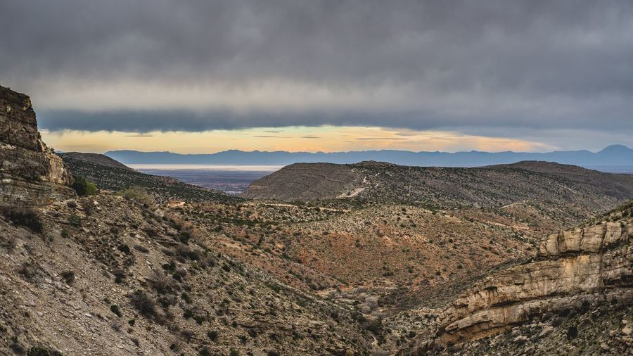 Scenics Newmexico Whitesandsnationalmonument Lincolnnationalforest Sunrise Rock Formation Overlook Storm Rainclouds Nature Nopeople