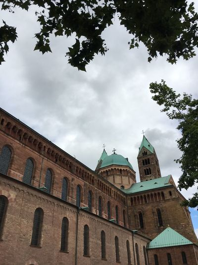 Speyer Speyerer Dom Dome Architecture Built Structure Sky Building Exterior Cloud - Sky Low Angle View Day Tree Travel Destinations No People Outdoors Place Of Worship Politics And Government