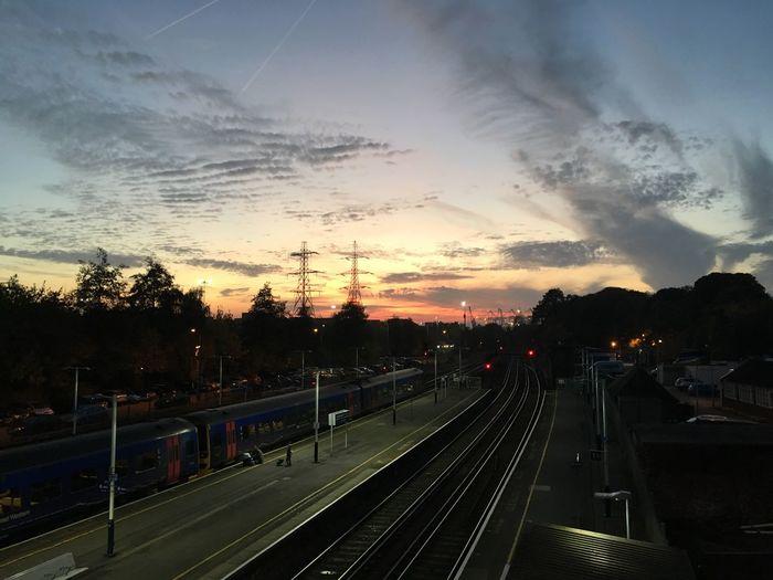 Southampton Railway Station Sunset