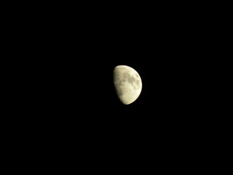 Taking Photos Night Sky Moon Outerspace Outdoors Sky No People, Clear Sky No Clouds Moon Craters Man In The Moon No Stars