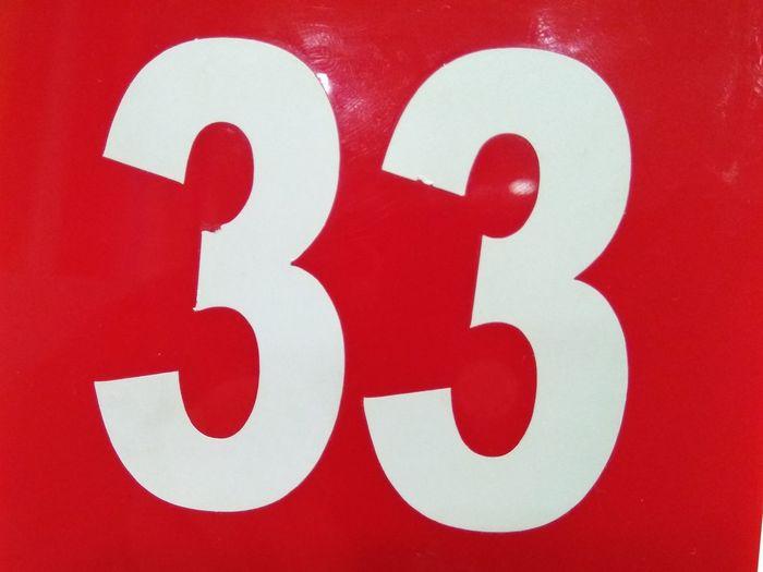33 красный белый цифры Red Close-up No People Indoors  Communication Day EyeEmNewHere Indoors  The Graphic City