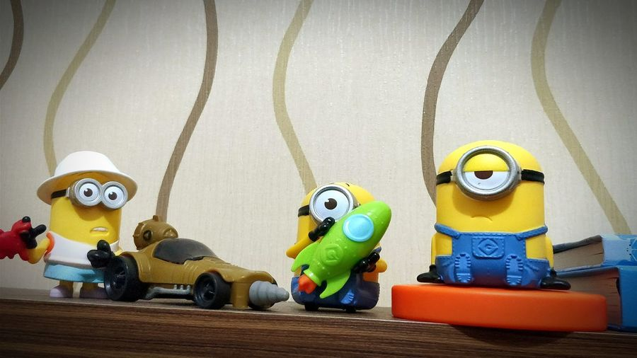Ba-na-na Toy Art And Craft Figurine  Doll Indoors  Jakarta Capital Region Indoors  Oneplus Jakartaphotography Oneplusphotography Oneplus5 Oneplus5photography Boys Happiness Childhood Child Day People Minions Minionsworld Despicable Me 3 McDonald's