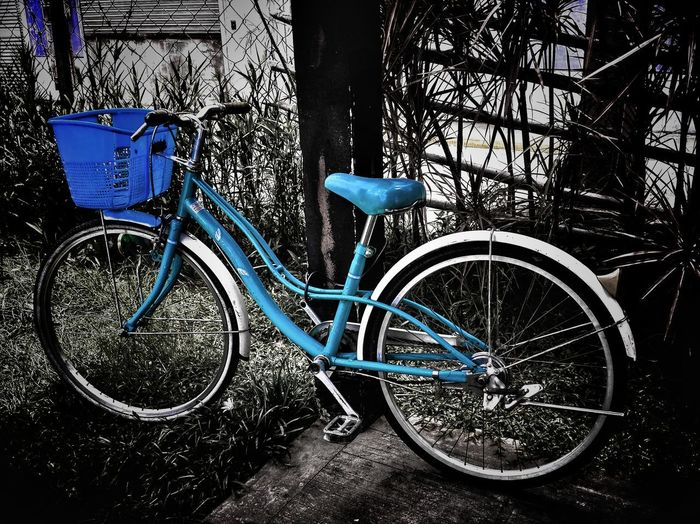 """Endless Love Bike..."" Bicycle Transportation Mode Of Transport Land Vehicle Outdoors Day Blue No People Stationary Bicycle Rack Close-up Still Life Still Life Photography StillLifePhotography Found Still Life"