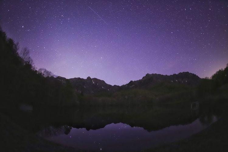 楽しい時間はあっという間😅 一目惚れんず 銀河鉄道の夜♪ Astronomy Galaxy Space Milky Way Star - Space Constellation Mountain Tree Lake Star Field Space And Astronomy