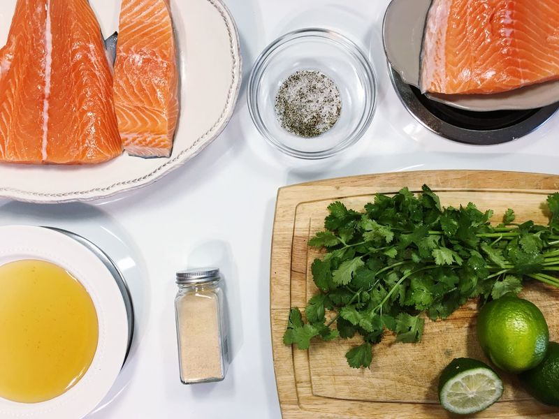 Food Food And Drink Freshness Ingredient Raw Food Table No People Healthy Eating Chopping Board Indoors  Black Peppercorn Day Salmon - Seafood Visual Feast