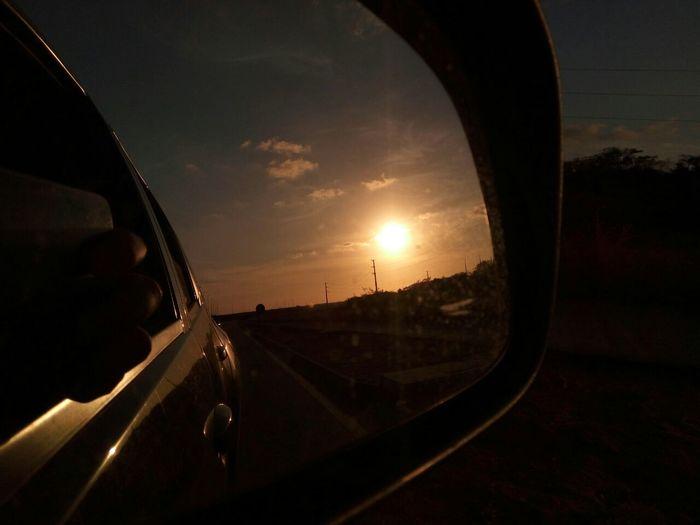 Por do sol em Natal/RN. Sunset Sky Day Retrovisor Brazil Nofilter Car First Eyeem Photo