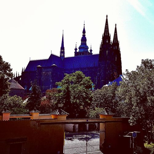 Summer 2017 Prague Travel Destinations Travel Cathedral Gothic Sky Love Bestofeurope History Best  Instagood Architecture Building