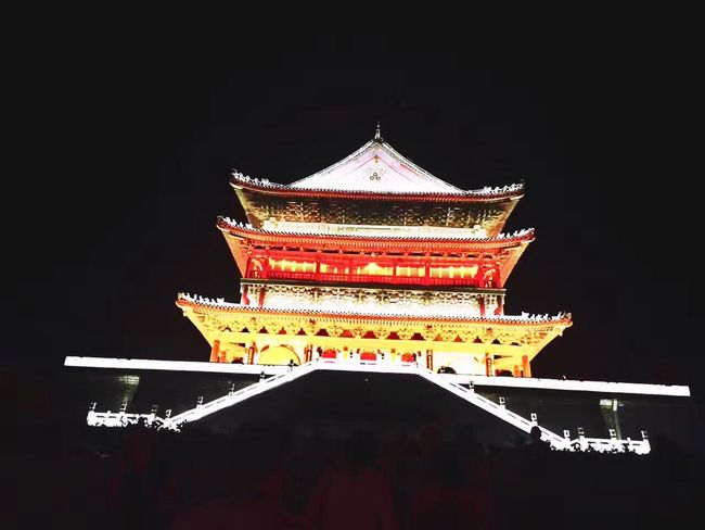 Xi'an Architecture Pagoda Building Exterior Religion Eaves Cultures No People Roof Built Structure Travel Destinations Low Angle View Ancient Night Outdoors Place Of Worship Sky