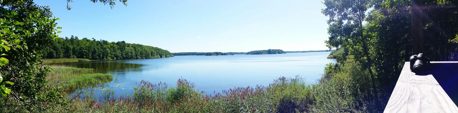 Växjö  Sweden Panorama Nature Lake View
